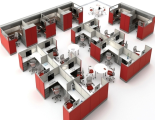 Office interior isometric veiw