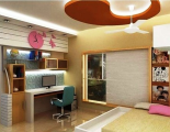 kids room 3d view